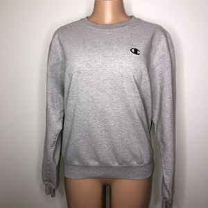 Champion Eco Gray Sweatshirt Pullover Size Medium